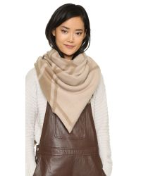 Tory Burch | Natural Fret Jacquard Blanket Scarf | Lyst