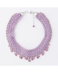 Paul Smith | Purple Women's Pink Beaded And Amethyst 'cleopatra' Necklace | Lyst