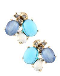 Indulgems - Multicolor Multi-stone Cluster Earrings - Lyst