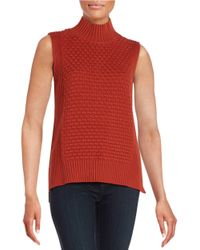 Vince Camuto | Brown Sleeveless Knit Sweater | Lyst