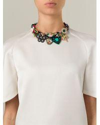 Night Market - Multicolor Embellished Bib Necklace - Lyst