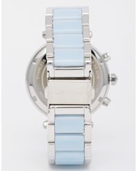 Michael Kors | Blue Mk6138 Silver Parker Watch | Lyst