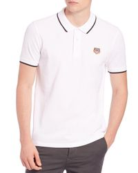 KENZO | White Tiger Logo Polo for Men | Lyst