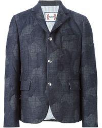 Moncler Gamme Bleu - Blue Camouflage Print Blazer for Men - Lyst