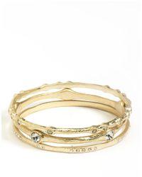ABS By Allen Schwartz | Metallic Three-piece Bangle Bracelet Set | Lyst