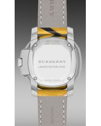 Burberry Brit | Yellow The Britain S/s15 Runway Limited Edition Bby17081 34mm | Lyst