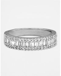 Effy | Metallic Classique 14 Kt. White Gold Diamond Baguette Band | Lyst