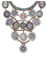 Sveva Collection - Blue Serenata Dreamcatcher Bib Necklace - Lyst