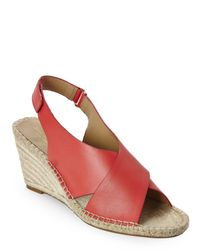 Isaac Mizrahi New York - Pink Coral Iriss Espadrille Wedges - Lyst