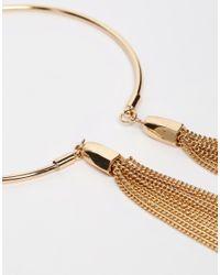 ASOS | Metallic 70's Open Tassel Arm Cuff | Lyst