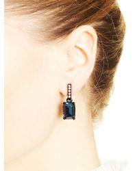 Oscar de la Renta | Blue Dark Navy Small Octagon Stone Earrings | Lyst