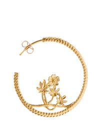 Alex Monroe | Metallic Gold-plated Large Braided Cinquefoil Hoop Earrings | Lyst