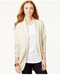 Tommy Hilfiger | Natural Veronica Open-front Cardigan | Lyst