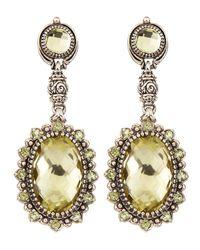 Konstantino - Yellow Lemon Topaz  Peridot Double Drop Earrings - Lyst