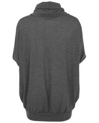 TOPSHOP - Gray Loose Roll Neck Top By Wal G - Lyst