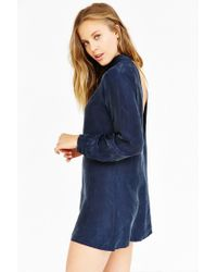 Blq Basiq - Blue Backless Mock-neck Dress - Lyst