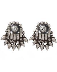DANNIJO - Blue Silver Clarin Sapphire Stud Earrings - Lyst