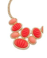Trina Turk | Orange Cabochon Frontal Necklace | Lyst