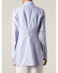 Jil Sander - Blue Striped Shirt - Lyst