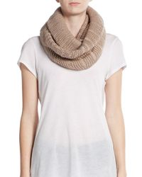 Vince Camuto - Brown Dropped Stitch Circle Scarf - Lyst