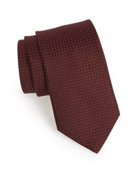 Michael Kors | Red Woven Silk Tie for Men | Lyst