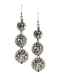 Kenneth Jay Lane | Gray Earrings | Lyst