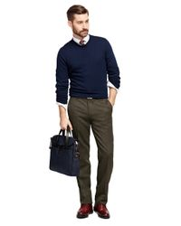 Brooks Brothers - Green Fitzgerald Fit Whipcord Trousers for Men - Lyst