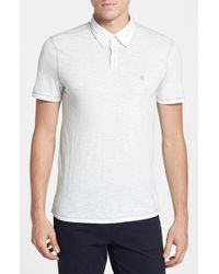 John Varvatos | White Slim Fit Polo for Men | Lyst