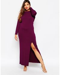 ASOS - Black Maxi Dress With Cowl Back - Lyst