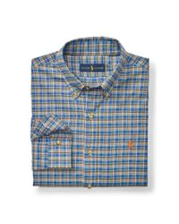 Polo Ralph Lauren | Blue Plaid Cotton Twill Shirt for Men | Lyst