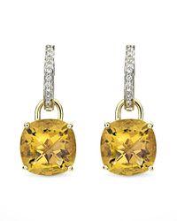 Kiki McDonough - Metallic Eternal 18k Gold Citrine Diamond Earrings - Lyst