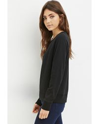 Forever 21 - Black French Terry Pullover - Lyst