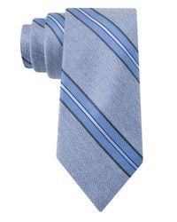 William Rast | Blue Silk-blend Stripe Tie for Men | Lyst