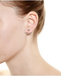 Yvonne Léon | 18K White Gold And Five Pearl Lobe Earring | Lyst