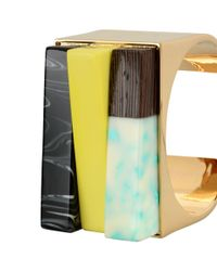 Stella McCartney - Multicolor Mixed Stones Bangle - Lyst