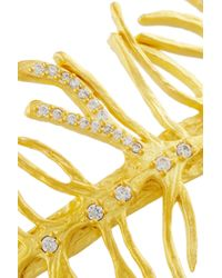 Kevia - Metallic Gold-Plated Crystal Cuff - Lyst