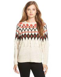 Kensie | Natural Crewneck Sweater | Lyst