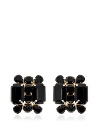 DSquared² | Black Swarovski Crystals Earrings | Lyst