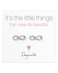 Dogeared | Metallic Sterling Silver Infinity Stud Earrings | Lyst