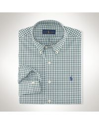 Polo Ralph Lauren | Gray Tattersall Poplin Sport Shirt for Men | Lyst