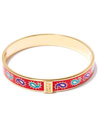 Liberty | Red Paisley Multicolour Thin Bangle | Lyst