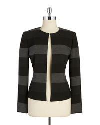 Tahari | Black Petite Colorblocked Blazer | Lyst