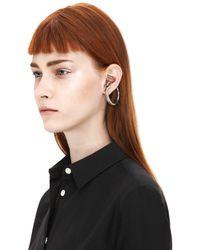 Acne Studios - Metallic Cordelia Silver Earring - Lyst