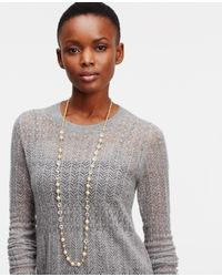Ann Taylor | Metallic Crystal Coin Necklace | Lyst
