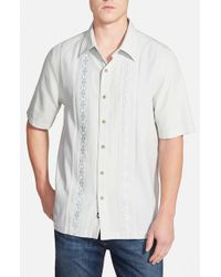 Nat Nast | White 'lexi' Regular Fit Short Sleeve Cotton, Silk & Linen Sport Shirt for Men | Lyst