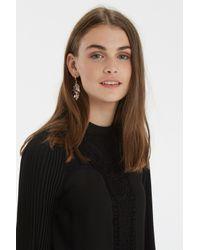 Oasis | Metallic Leaf Cluster Drop Earrings | Lyst