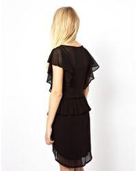 Traffic People | Black Faded Graces Drape Dress | Lyst