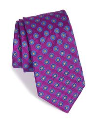 Ted Baker | Purple 'circle Spokes' Silk Tie for Men | Lyst