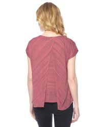 Splendid | Pink Space Dye Bias Top | Lyst