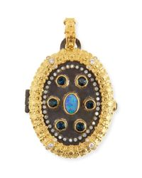 Armenta - Blue Old World Carved Locket - Lyst